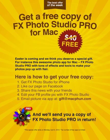 Fxstudio pro per Mac fotografia editor