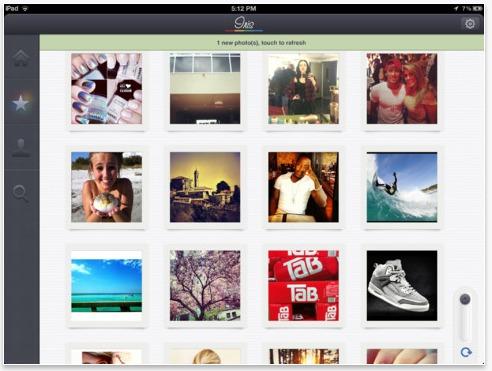 Iris ipad per Instagram foto cellulare