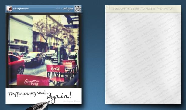 instagram progetto foto stampate