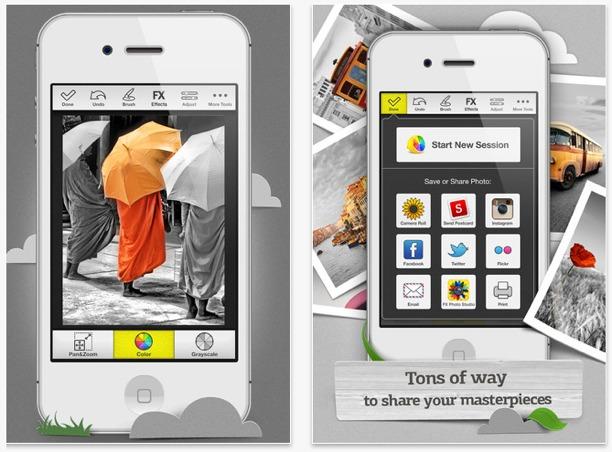 iphoneografia cellulari foto color splash app