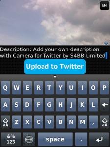caricare fotografie su twitter con blackberry