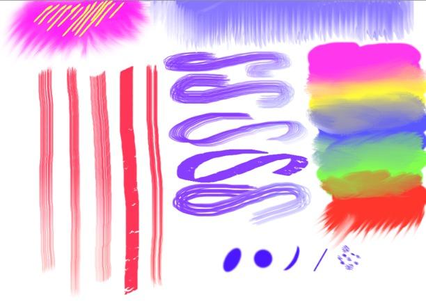 esempio di pennelli per dipingere su ipad