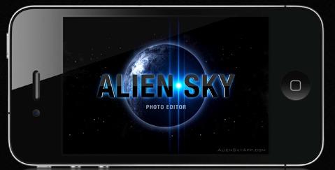 app fotografica di effetti pianeti alien sky per iphone