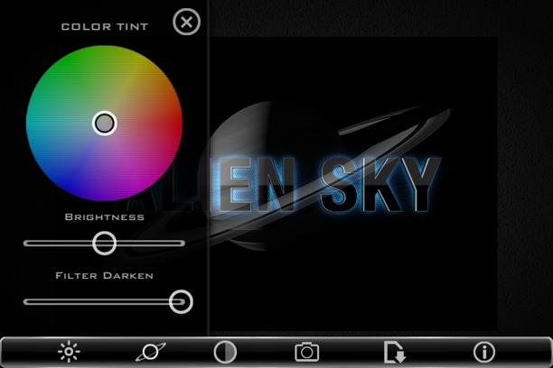 iphoneografia con alien sky per iphone