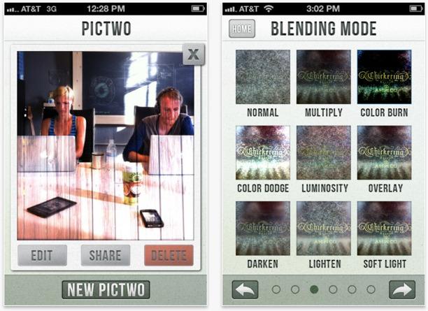 iphoneografia con pictwo per sovrapporre le foto