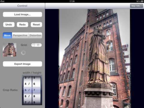 correggere la distorsione delle foto con andiftouch