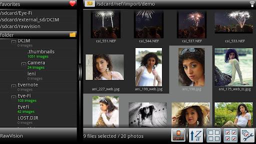 rawvision per fotografia android