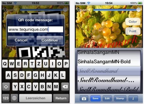 metti un watermark sulla foto per blackberry e symbian