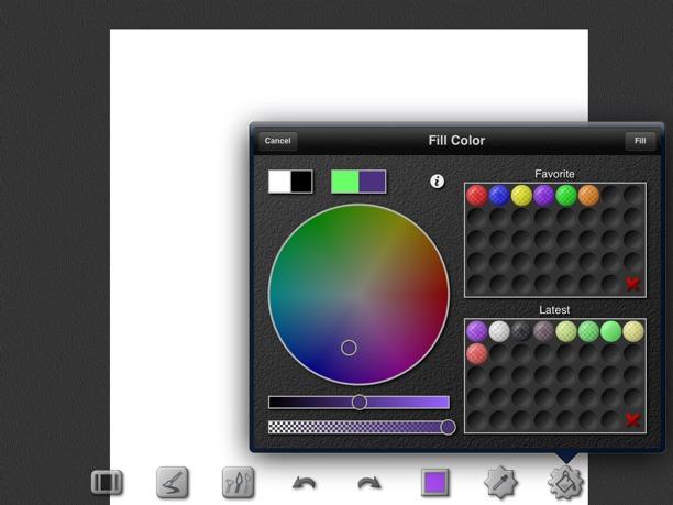 selezione del colore per inspire pro ipad
