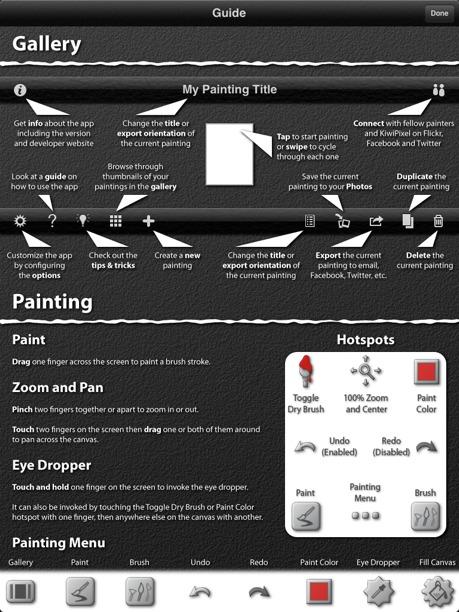 opzioni per dipingere con ispire pro per ipad