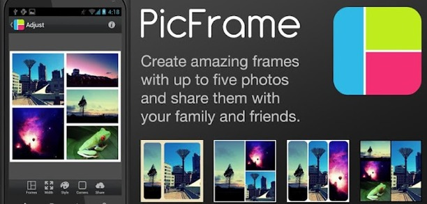 creare collages con picframe per android iphone ipad e Mac
