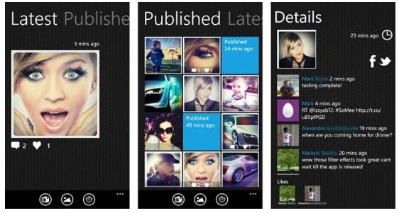 scattare foto con somee per cellulari windows phone