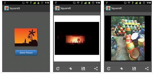 trasforma le foto in quadrato per Android su Instagram