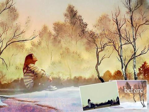 creazione artistica dipinto foto con ipad masterpiece hd