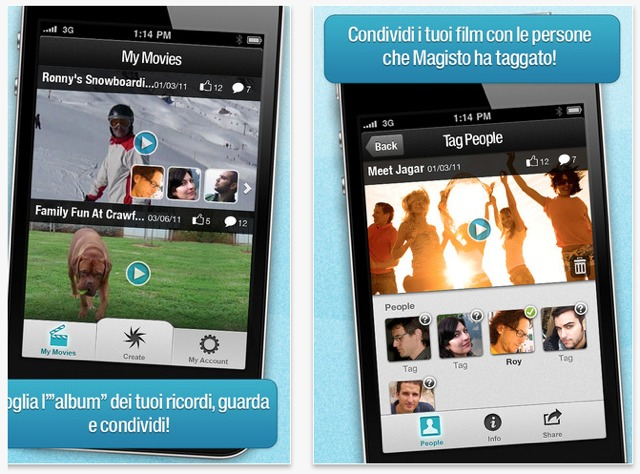 crea video con magisto per iphone ed android