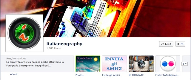 Italianeography FB screen