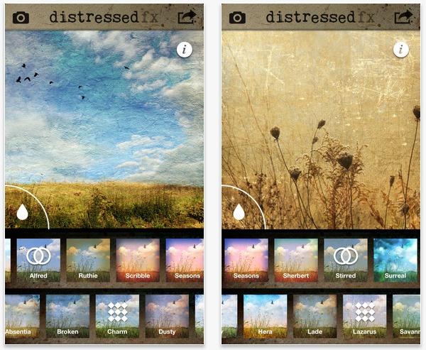 App per fotografia iphone con textures