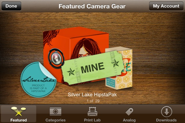 Hipstamatic Silver Lake HipstaPak