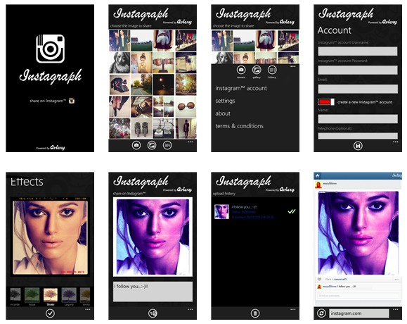 Instagraph instagram per windows phone