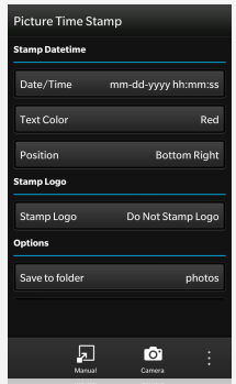 Picture Time Stamp per BB