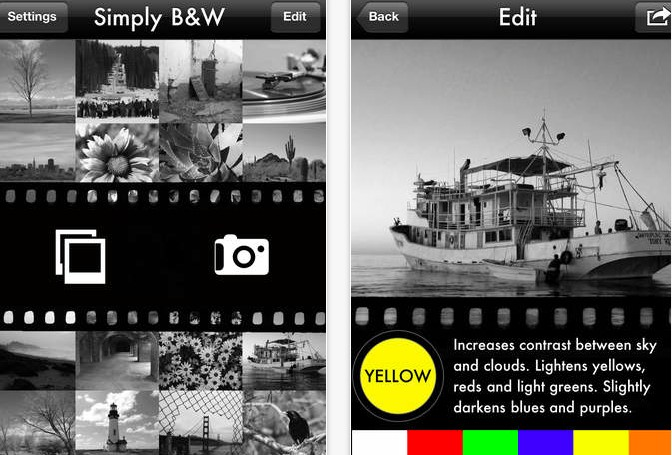 Simply B W iPhone iPad