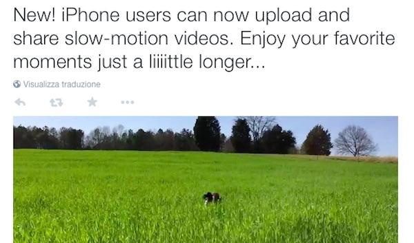 Twitter slow motion