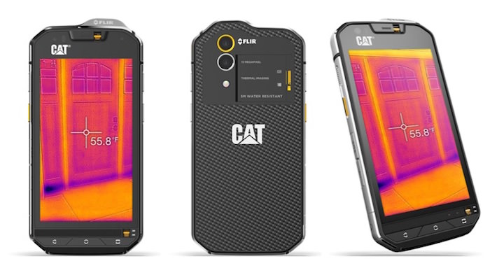 smartphone android cat s60 fotocamera termica