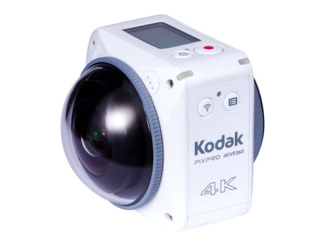 Kodak Pixpro 4KVR360 Registra 4K e 360° con 2 Lenti Diverse