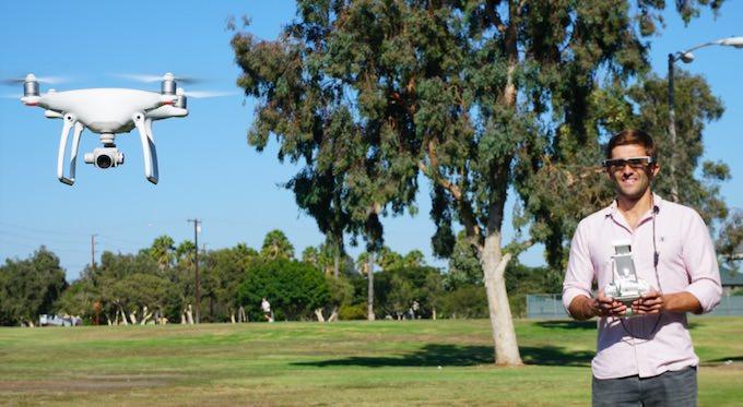 Pilota un DJI con gli Occhiali AR Epson Moverio BT-300