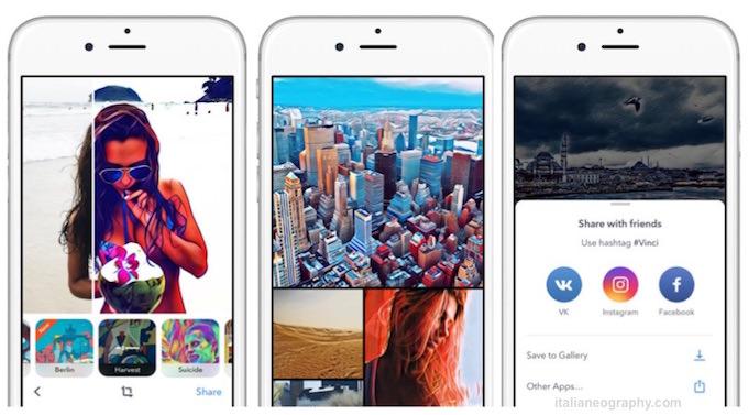 App Vinci è l'Alternativa della Facebook Russa a Prisma