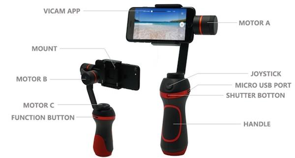 caratteristiche vimble s stabilizzatore video smartphone