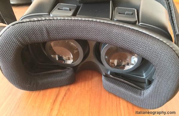 regolazione lenti visore umi box 6