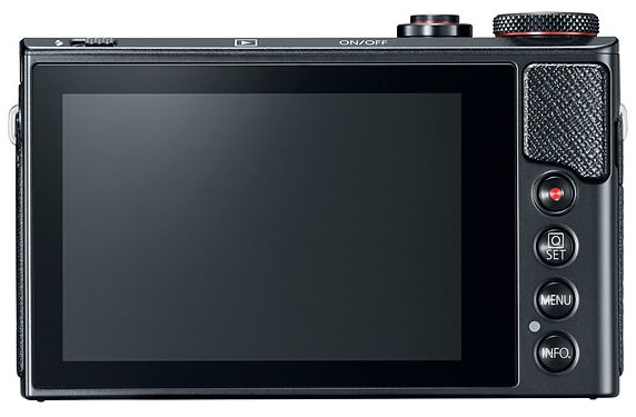 display touchscreen Canon PowerShot G9 X Mark II