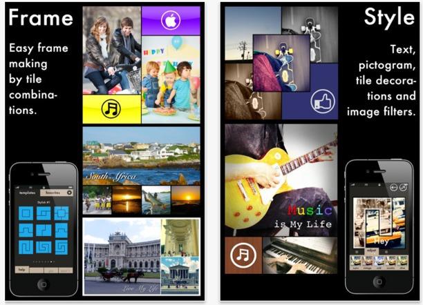 fotografia iphone creando collage con tiled