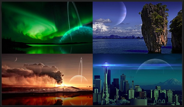 editare elaborare foto su iphone con alien sky