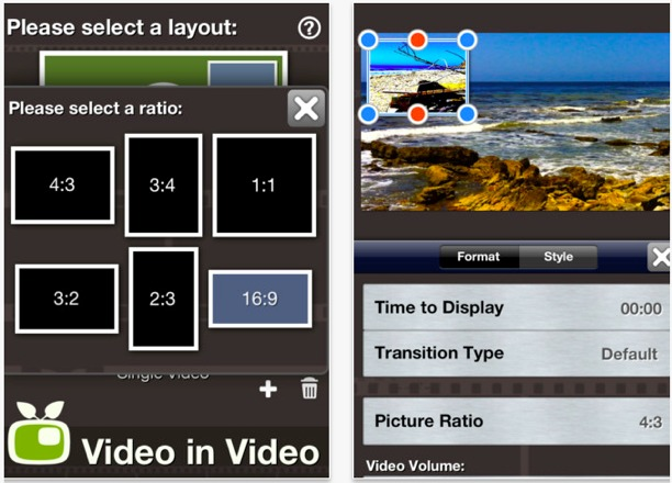video in video per iphone videography