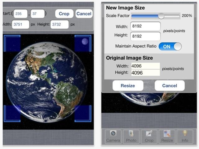 Bigphoto ipad iphone ridimensiona immagini