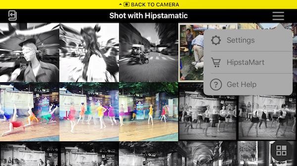 impostazioni hipstamatic 320