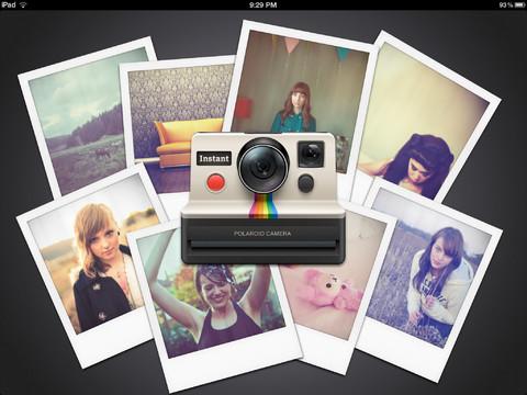 instant fotografia polaroid per ipad