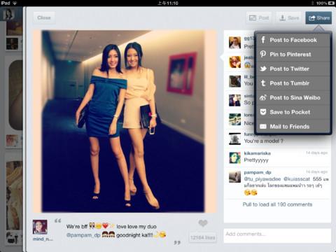 client instagram per ipad padgram