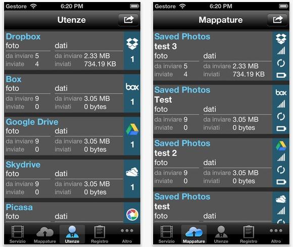 backup delle foto sulle nuvole iphone