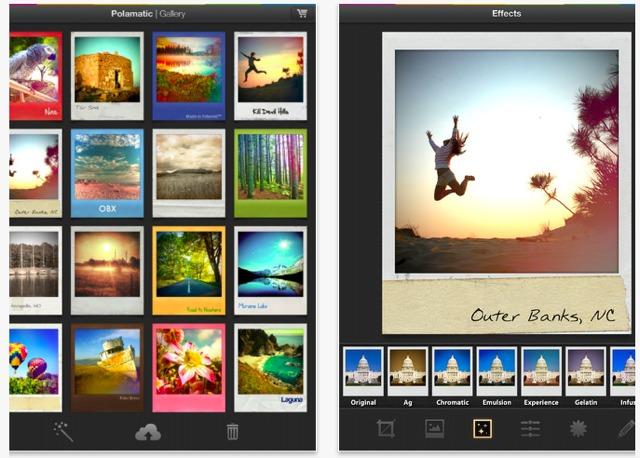 crea foto polaroid con ipad