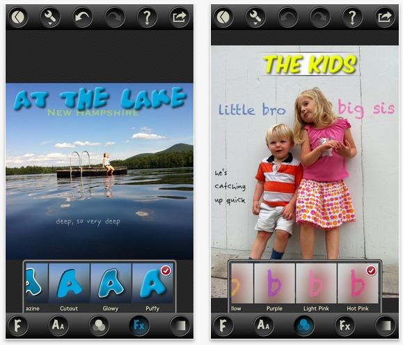 Crea copertine titlefx iphone ipad