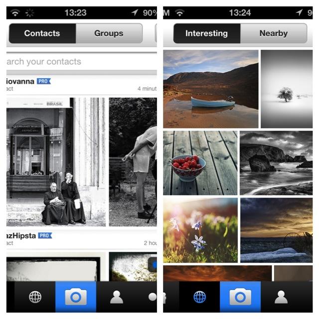 contatti e gruppi su flickr