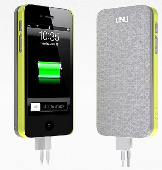 UNu EcoPak caricabatteria per iphoneEcoPak