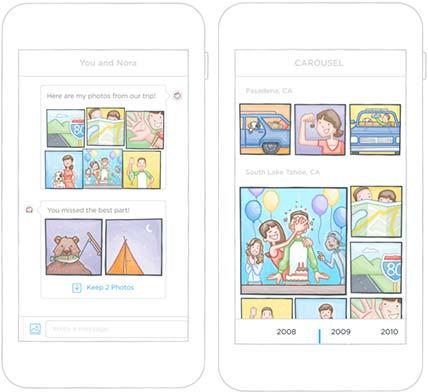 carousel per organizzare foto su iPhone