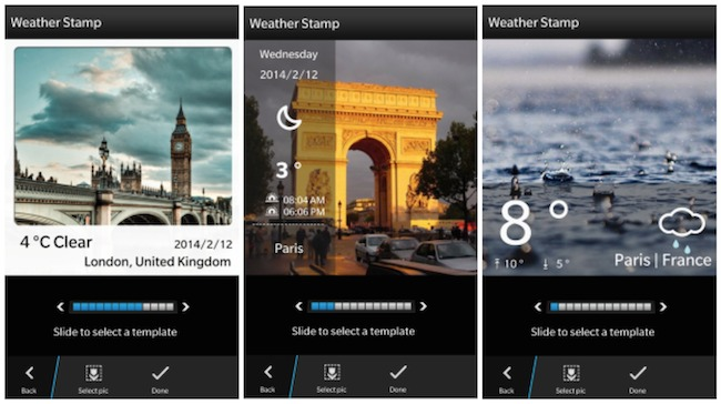 Insta Weather Blackberry