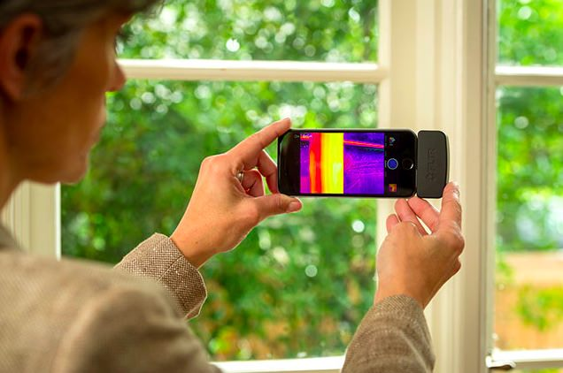 Flir one iphone esempio
