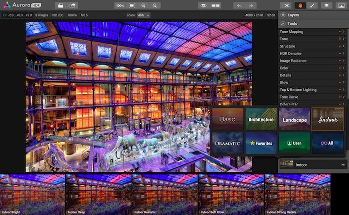 software fotografia HDR nuovo Aurora