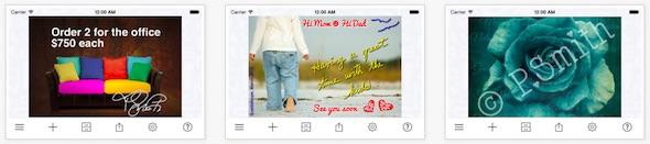 A+ signature app per testo sulle foto